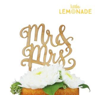 【Alexis Mattox Design】 MR&MRS 木製 ケーキトッパー ブライダル 結婚式 お祝い デコレーション パーティー (CT09)