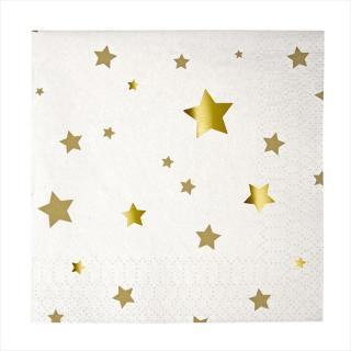 【Meri Meri メリメリ】ゴールドスター ペーパーナプキン 16枚 紙ナプキン ペーパータオル (45-1257)