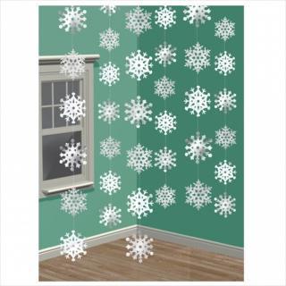 【クリスマス】ストリングデコレーションスノーフレーク 雪の結晶のパーティー