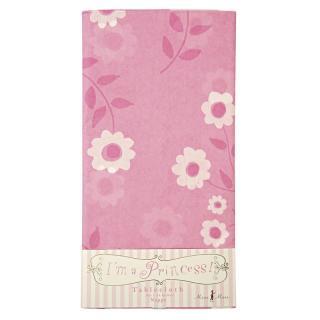 【Meri Meri メリメリ】 紙製テーブルクロス I'm Princess 花柄ピンク 使い捨て (45-0891)
