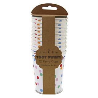 【Meri Meri メリメリ】ペーパーカップ Toot Sweet Spotty 12枚入り (45-0862)