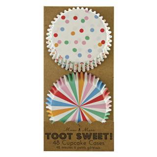 【Meri Meri メリメリ】カップケーキケース Toot Sweet Spotty 48枚入り (45-0861)