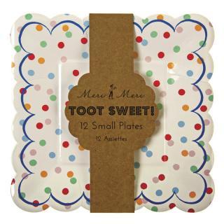 【Meri Meri メリメリ】ペーパープレート Toot Sweet Spotty スモール 12枚入り (45-0865)