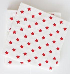 【SAMBELLINA サンベリーナ】 ペーパーナプキン 星柄 レッド スター 20枚入り 【メール便発送可】