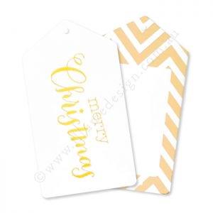【Illume Design】CHEVRON ジグザグ柄】 クリスマスタグ ゴールド 12枚入り(ID-TAG-027)