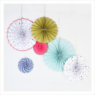 【Meri Meri メリメリ】ペーパーファンデコレーション【Toot Sweet Charms Pinwheels】 (45-1308)
