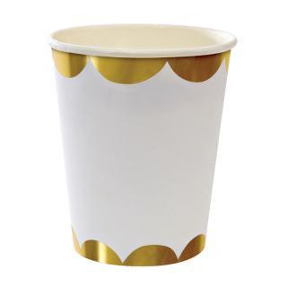 【Meri Meri メリメリ】ゴールド ペーパーカップ【Gold scallop  paper cup】パーティー用 紙カップ ホームパーティーやバースデイに (45-1228)