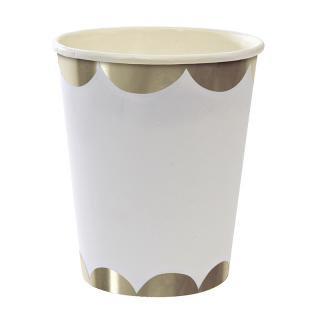 【Meri Meri メリメリ】シルバー ペーパーカップ【Silver scallop  paper cup】パーティー用 紙カップ ホームパーティーやバースデイに (45-1343)