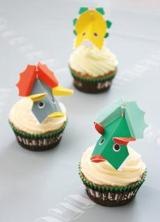 【Meri Meri メリメリ】恐竜 カップケーキキット【dinosaur cup cake kit】トッパー付ベーキングカップセット(45-1201)