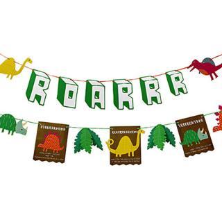 【Meri Meri メリメリ】恐竜 ガーランド【dinosaur Garland】ペーパーバナー お誕生日やホームパーティーに (45-1202)