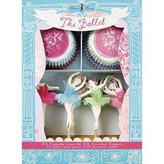 【Meri Meri メリメリ】バレリーナ カップケーキキット 【Little Dancers Ballet Cupcake Kit】【トッパー付ベーキングカップセット】(45-0571)