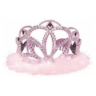 【amscan】プリンセス ティアラ ピンク マラボウ付 【女の子のバースデイ・パーティー・1歳誕生日に クラウン】