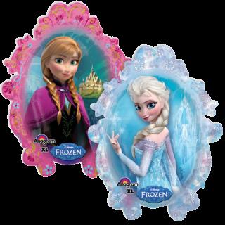 【フィルム風船】ガス無し【アナと雪の女王 アナ・エルサリバーシブル】【パーティーデコレーション】【メール便発送可】フローズン バースデイにも