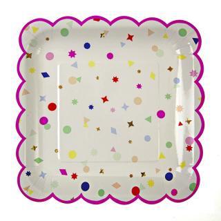 【Meri Meri】ペーパープレート ラージ 【charms】パーティー用 紙皿 ホームパーティーやバースデイに (45-1214)
