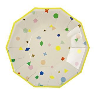 【Meri Meri】ペーパープレート スモール 【charms】パーティー用 紙皿 ホームパーティーやバースデイに (45-1217)