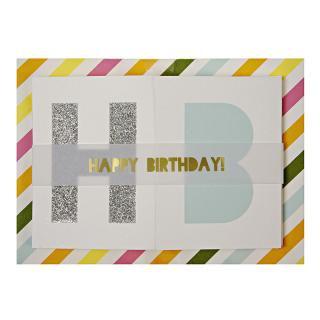 【Meri Meri】HAPPY BIRTHDAY カード バナー 封筒付 オシャレなお誕生日カード (16-0065H)
