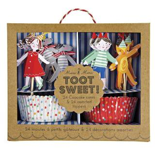 【Meri Meri】カップケーキ キット チルドレン【Toot Sweet Children】【トッパー付ベーキングカップセット】(45-0897)