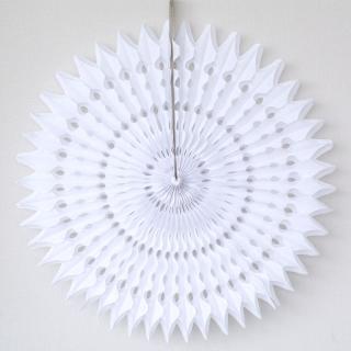 ペーパーファン 50cm ホワイト  【4個までメール便発送可】