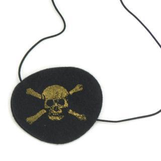 【Numero 74】パイレーツ ドクロ柄 アイパッチ 海賊の眼帯 男の子用 大人も使える アクセサリー