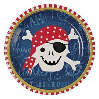 【Meri Meri】ペーパープレート 海賊 パイレーツ 【Pirate】パーティー用紙皿 パーティ皿 (45-0786)