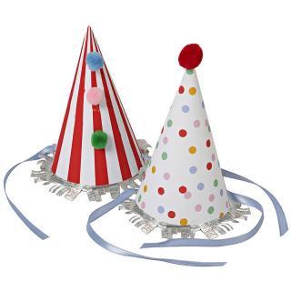 【Meri Meri】パーティーハット Toot Sweet パーティー用帽子 コーンハット 三角帽 (45-0878)