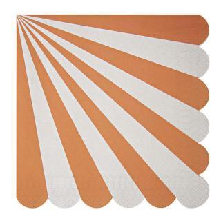 【Meri Meri】ペーパーナプキン オレンジ【Toot Sweet Orange Large】ストライプ パーティー用紙ナプキン (45-1319)