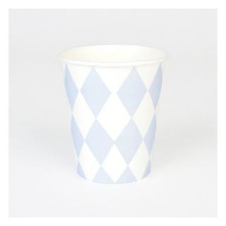 【my little day マイリトルデイ】 ペーパーカップ  8枚入りブルー ダイアモンド