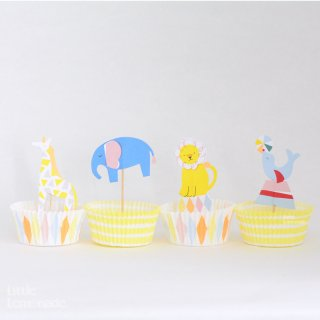 【Meri Meri メリメリ】サーカス カップケーキキット【Silly Circus cupcake kit】(45-1640)