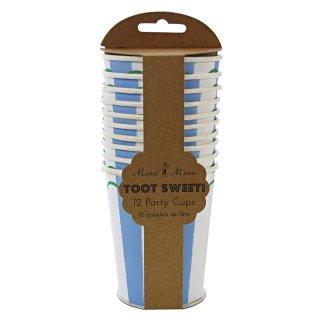 【Meri Meri メリメリ】 ペーパーカップ Toot Sweet  Blue ブルー (45-0856)