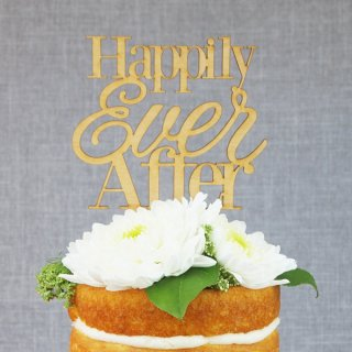 【Alexis Mattox Design】 Happily Ever After ケーキトッパー ブライダル 結婚式 お祝い デコレーション  (CT03)