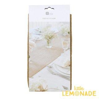【Talking Tables】麻素材のテーブルランナー(WHT-RUN-HESSIAN)◆SALE トーキングテーブルス