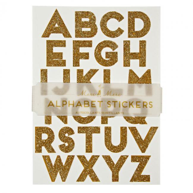 【meri meri メリメリ】アルファベット グリッター シール ゴールド キラキラシール【alphabet glitter stickers】(45-103…