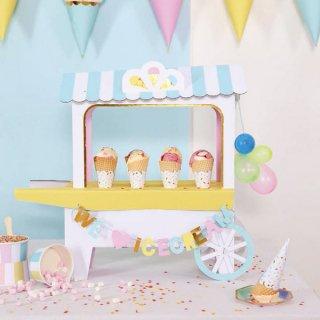 【Meri Meri】アイスクリームカート センターピース フードスタンド 組み立て式 ice cream shop  (45-1819)
