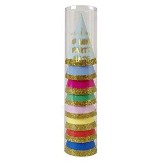【Meri Meri メリメリ】8色入り 超ミニサイズ パーティーハット バースデイ 三角帽子 帽子 (45-1689)