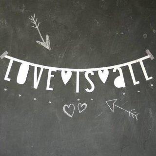 【A Little Lovely Company】アルファベット レターバナー/ホワイト メール便可