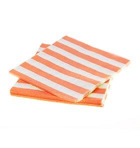 【SAMBELLINA サンベリーナ】ペーパーナプキンオレンジ ストライプ柄 20枚入【メール便発送可】
