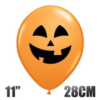 【ハロウィン 風船】ジャックオーランタン 11インチ28CM オレンジ パンプキン【ゴム風船 ばら売り バルーン