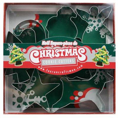 Fox Run クリスマスのお菓子作りに クッキー型抜き クリスマス サンタクロース トナカイ ベル 天使 キャンディー 星 クリスマスツリー 型抜き クッキー X'mas パーティー