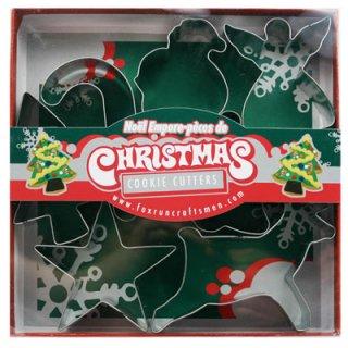【 Fox Run】クリスマスデザインクッキー カッター【型抜き サンタクロース トナカイ ベル 天使 キャンディー 星 ツリー 型抜き クッキー】 【クリスマス X'mas】( F3648)