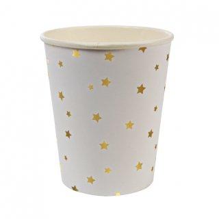 【Meri Meri】ゴールド スター ペーパーカップ 8個入り 星柄 お星さま 使い捨てカップ メリメリ  (45-1240 / 124354 )