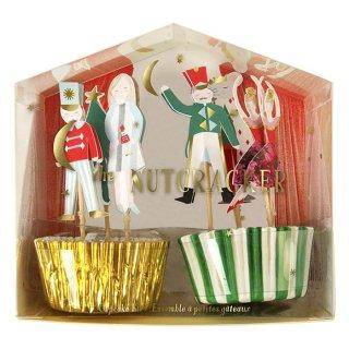 【Meri Meri】クリスマス くるみ割り人形 カップケーキキット 2015 【Nut Cracker cupcake kit】ホームパーティー(45-1896)