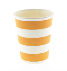 【SAMBELLINA サンベリーナ】 ペーパーカップ 12個入り オレンジ ストライプ柄