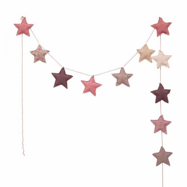 【numero 74 ヌメロ】 スター クッションガーランド ピンク mini star garland ふわふわのクッションで出来たお星さまガーランド バナー インテリア 子供部屋 ギフト 出産祝い