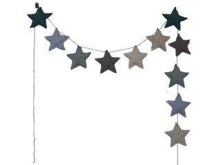 【numero 74 ヌメロ】 スター クッションガーランド ブルー mini star garland ふわふわのクッションで出来たお星さまガーランド バナー インテリア 子供部屋 ギフト 出産祝い