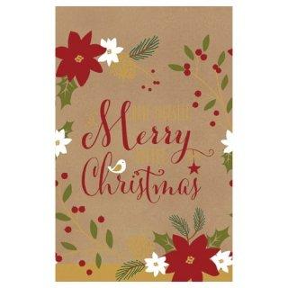 【amscan アムスキャン】ペーパーテーブルカバー/メリークリスマスオールオーバー(PG571557)【クリスマス テーブルカバー 大人っぽい イラスト ヒイラギ】