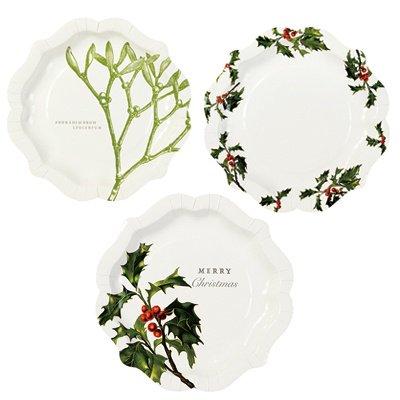 【Talking Tables(トーキングテーブル)】紙皿/ボタニカルクリスマス(20cm) クリスマス プレート テーブルウェア パーティー(BC-PLATE-ME…