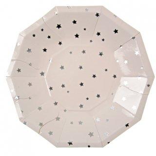 【Meri Meri メリメリ】シルバースター ペーパープレート 8枚入り パーティー用紙皿 (45-1232)