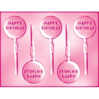 CK チョコレート型 ロリポップ型 HAPPY BIRTHDAY 【チョコモールド 型抜き お菓子作り テンパリング バースデイ スイーツ バレンタイン】(90-12136)