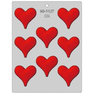 CK チョコレート型 ハート Love【チョコモールド 型抜き お菓子作り テンパリング バースデイ スイーツ 製菓 手作り バレンタイン 誕生日】(90-1127)
