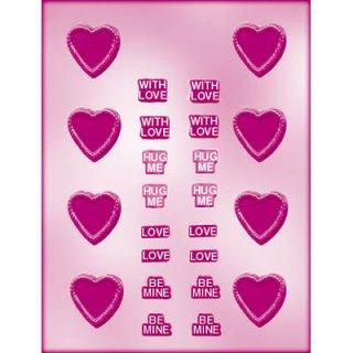 SALE◆CK チョコレート型 ハート・メッセージ【チョコモールド 型抜き お菓子作り テンパリング バースデイ スイーツ 製菓 手作り バレンタイン 誕生日】(90-1013)